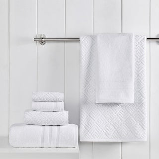 Link to Modern Threads Sterling 100% USA Grown Cotton Jacquard 6-Piece Towel Set Similar Items in Towels