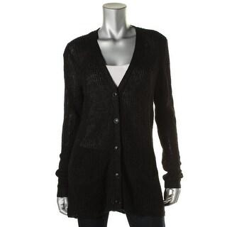 Denim & Supply Ralph Lauren Womens Linen Blend Open Stitch Cardigan Sweater - XS
