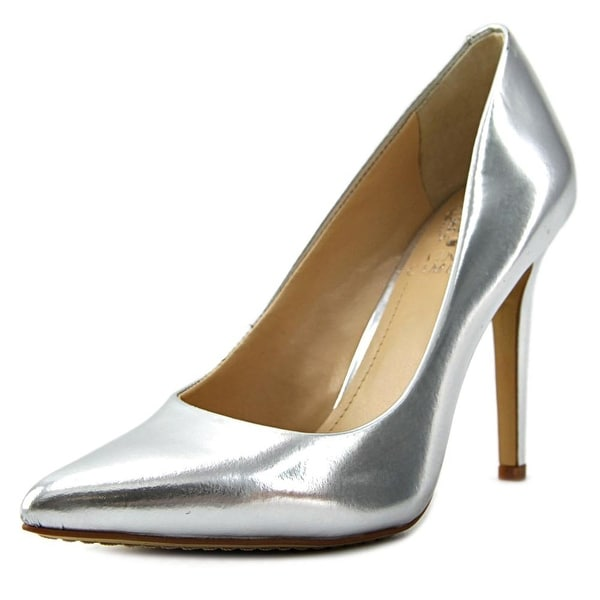 Vince Camuto Kain Women  Pointed Toe Patent Leather Silver Heels