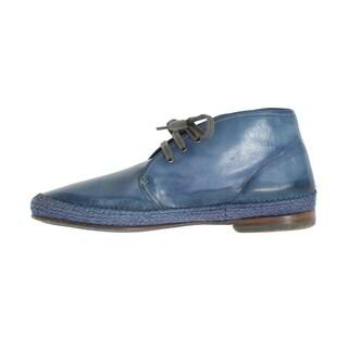 Dolce & Gabbana Dolce & Gabbana Blue Crust Leather Chukka Ankle Boots - eu44-us11