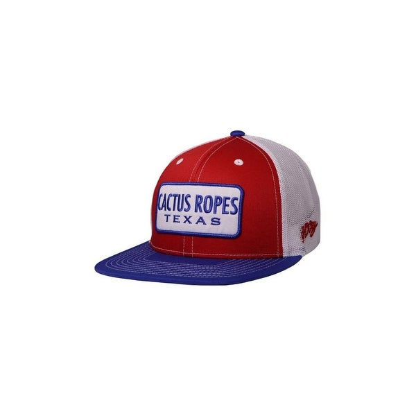 5005554a3d Shop HOOey Western Hat Boys Cactus Ropes Youth Trucker O/S Blue Red ...