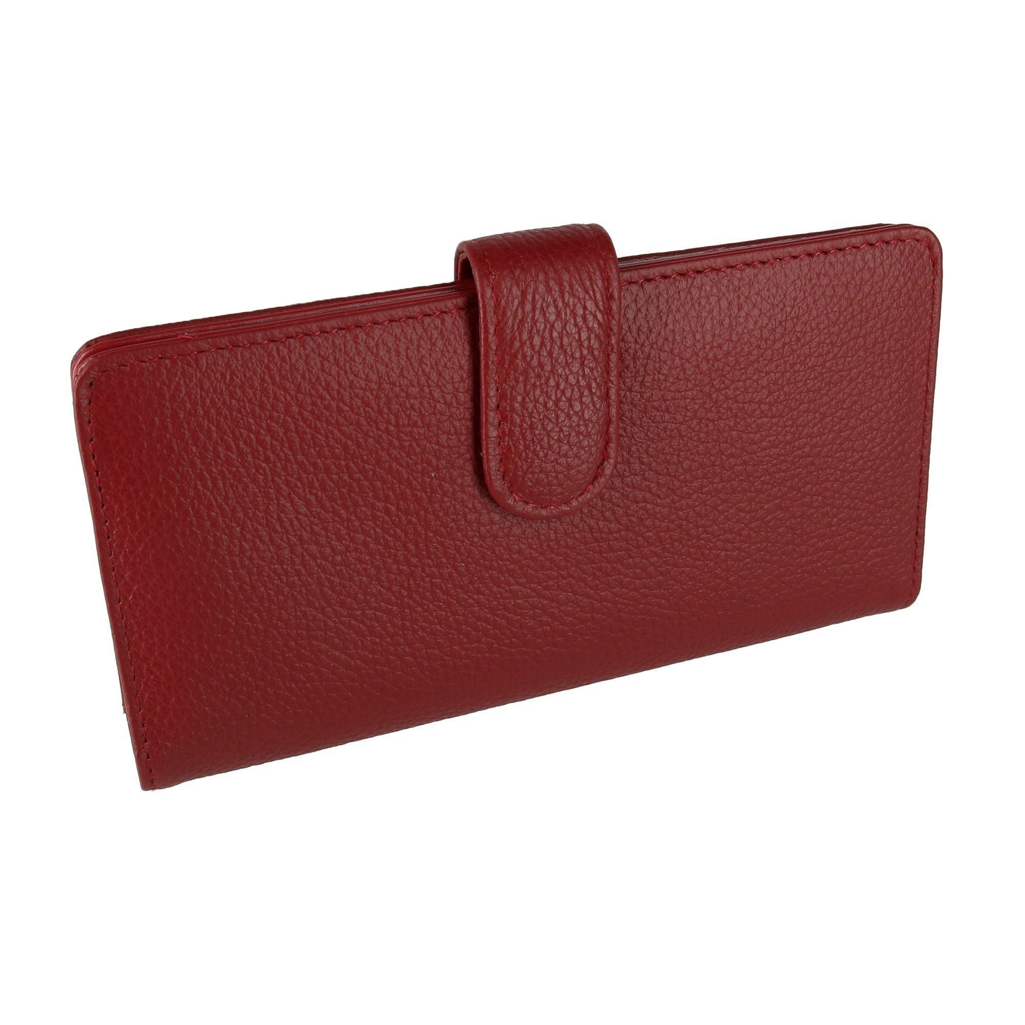 Buxton Genuine Leather Checkbook Cover,Brown