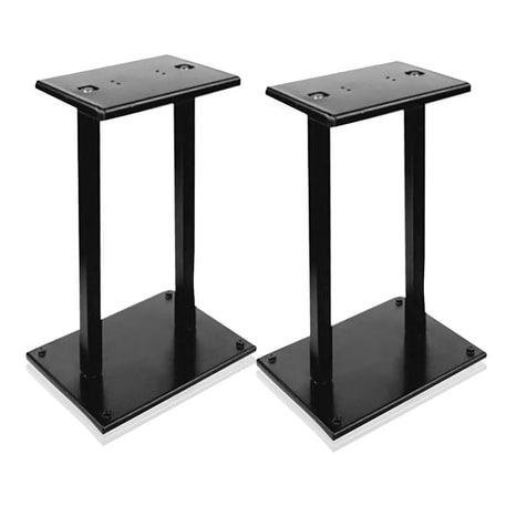 Heavy-Duty Steel Quad Support Bookshelf / Monitor Speaker Stands