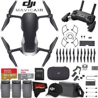 DJI Mavic Air Fly More Combo (Onyx Black) + DJI Baseball Cap (Black) + SanDisk Ultra 32GB Class 10 microSDHC Card Bundle