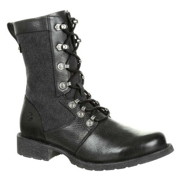 Durango Boot Women's DRD0323 Drifter Military Inspired Lacer Boot Slate Full Grain Leather/Canvas