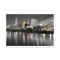 Cleveland Touch of Color Skylines Matte Poster 36x24