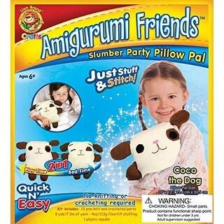 Lion Brand Yarn APF-AM1 Amigurumi Friends Pillow Pal Kit, Coco The Dog