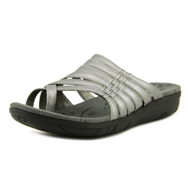 Baretraps Josey Women Open Toe Synthetic Silver Slides Sandal