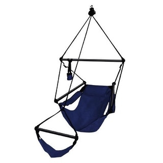 Hammaka Strong & Comfort Hanging Chair Aluminum Dowels for Indoor/Outdoor - Midnight Blue