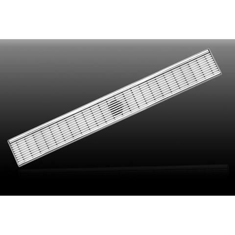 "LUXE Linear Drains 48WW 48"" Wedgewire Linear Shower Drain -"