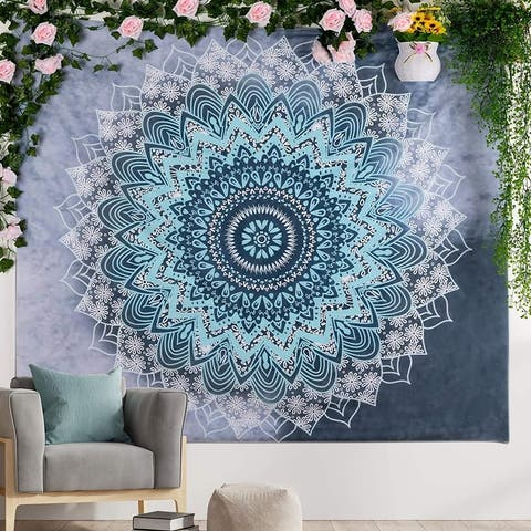 Urbanstrive Not Fade Mandala Tapestry Wall Hanging Trippy Hippie Psychedelic Wall Tapestry for Bedroom (51.2x59.1 Inches)