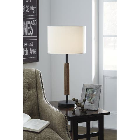 """Maliny 27 Inch Wood Table Lamp - Set of 2 - 13"""" W x 13"""" D x 27.75"""" H"""