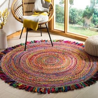 Link to Safavieh Handmade Cape Cod Nelie Coastal Jute Rug with Fringe Similar Items in Living Room Furniture