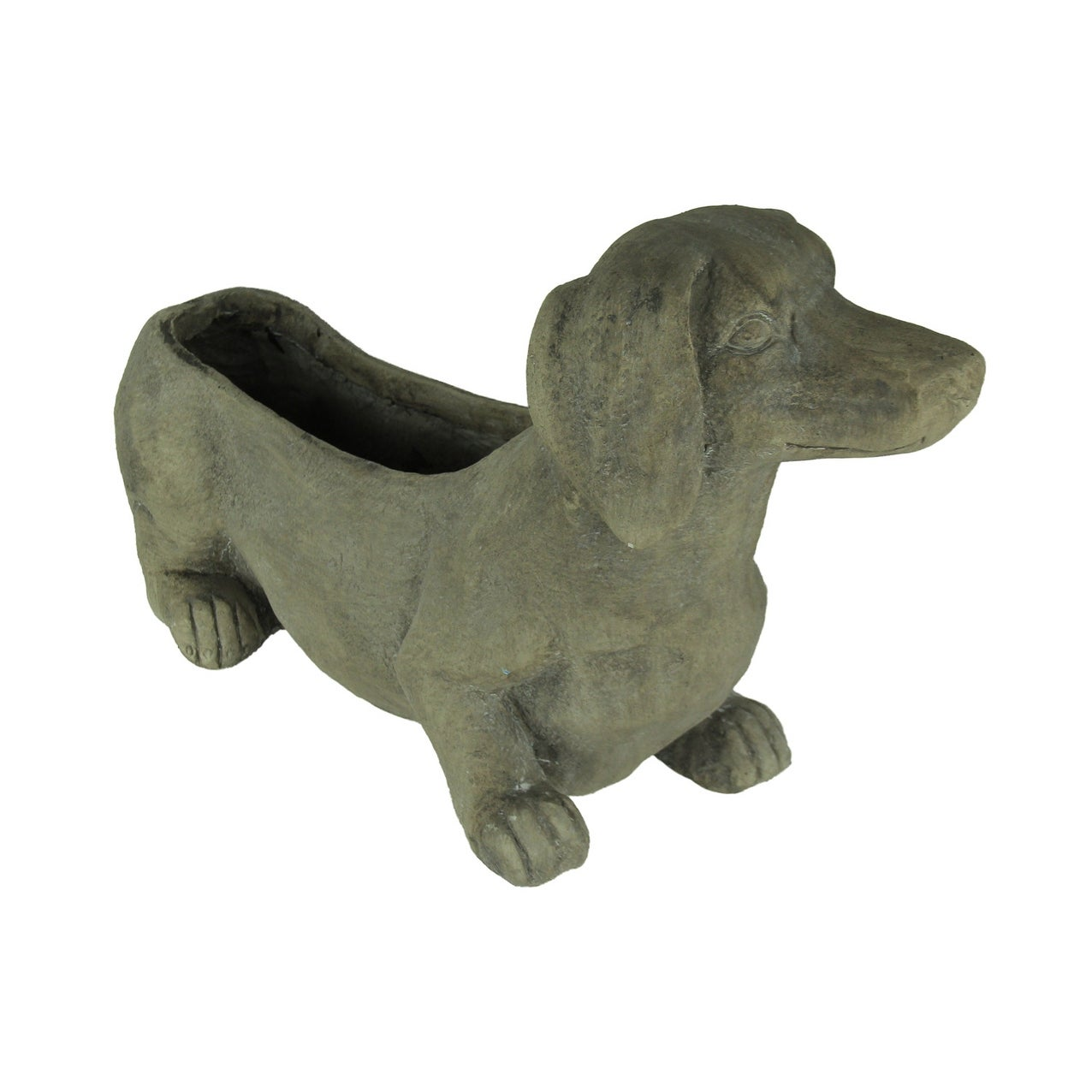 Grey Dachshund Dog Indoor Outdoor Planter 11 X 19 X 5 5 Inches Overstock 27898587