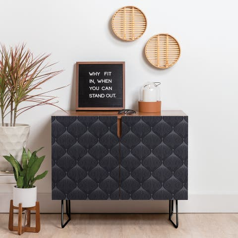 Deny Designs Hygge in Kohl Credenza (Birch or Walnut, 2 Leg Options)