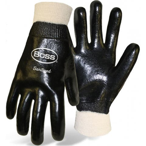 Boss 4221 Men's Smooth Grip Pvc Gloves, Black