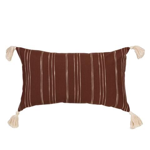 Arden Selections Home 14 x 24 Lumbar Pillow - Brooke Stripe Ochre