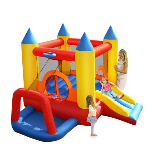 Costway Inflatable Mighty Bounce House Jumper Castle Moonwalk Without Blower