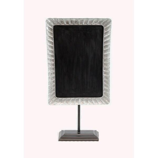 Shop Rustic Galvanized Metal Framed Tabletop Chalkboard On Stand ...