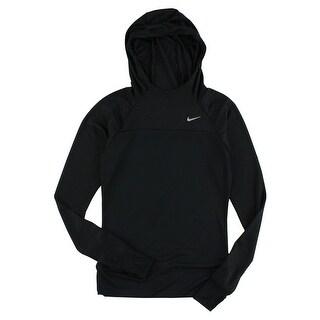 Nike Womens Run Fast Pullover Hooded Shirt Black - XS