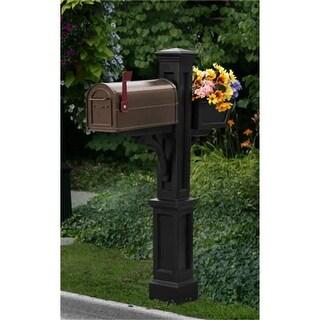 MAYNE 5830B Westbrook Plus Mailbox Post- Black
