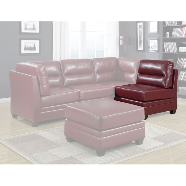 Monarch Specialties I 8301rd 32 Inch Wide Sectional Sofa Piece Red
