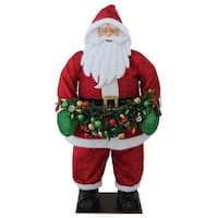 "48"" Red and White Christmas Santa Claus Outdor Inflatable"