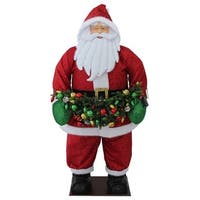 "60"" Red and White Christmas Santa Claus Outdor Inflatable"