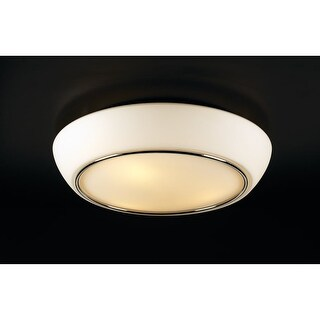 PLC Lighting PLC 21024 2 Light Down Lighting Flushmount Ceiling Fixture from the Centrum Collection - Silver