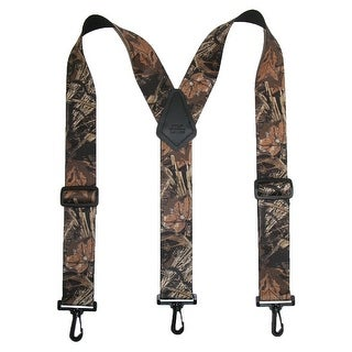 CTM® Men's Big & Tall Elastic Camouflage Suspenders with Black Swivel Clips - One Size