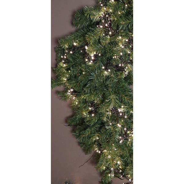 LED Twinkle Cluster Lights 12.4Ft Multi w// Clear Strand Connect End to End