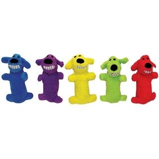 """MultiPet 47735 Mini Plush Loofa Dog Toy, 6"""", Assorted Color"""