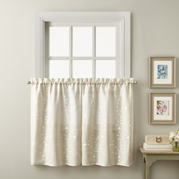 Lynette Tailored Tier Set and Valance Curtain Collection. Opens flyout.