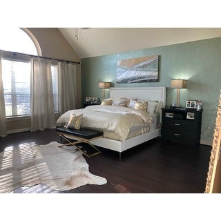 Hayworth PU Leather or Velvet Nail-head Trim Platform Bed