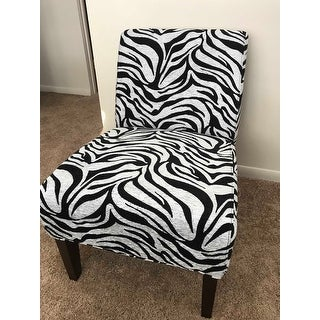 Shop Aberly Zebra Pattern Accent Chair Free Shipping