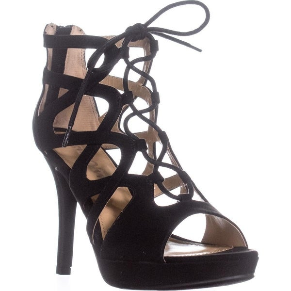 Report Laxy Platform Lace Up Dress Sandals, Black