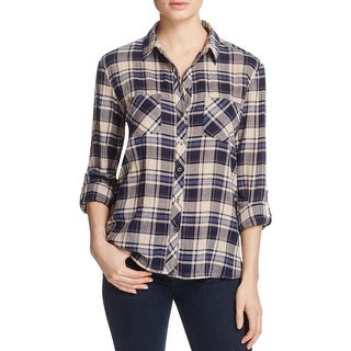Soft Joie Womens Lilya Casual Top Button-Down Plaid