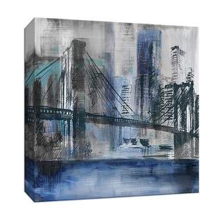 """PTM Images 9-147665  PTM Canvas Collection 12"""" x 12"""" - """"Brooklyn Bridge"""" Giclee New York Art Print on Canvas"""