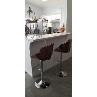 Strick & Bolton Lega Modern Adjustable Swivel Barstool