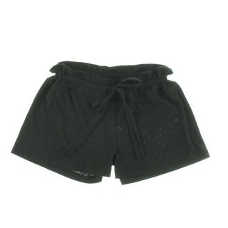 The Vintage Twin Womens Solid Stretch Casual Shorts - L