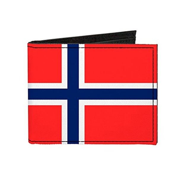 Buckle-Down Canvas Bi-fold Wallet - Norway Flag Accessory