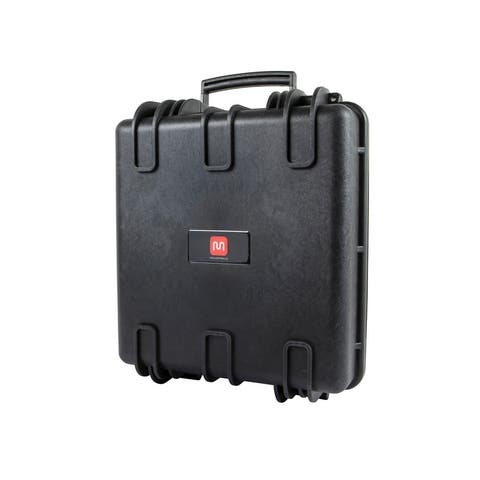 Monoprice Weatherproof Hard Case - 14 x 16 x 8 in With Customizable Foam, Shockproof, Customizable Name Plate