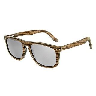 Earth Wood Pacific Unisex Wood Sunglasses - 100% UVA/UVB Prorection - Polarized/Mirrored Lens - Multi