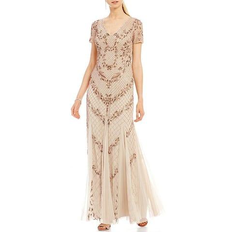 Adrianna Papell Women's Dress Beaded Mermaid Gown