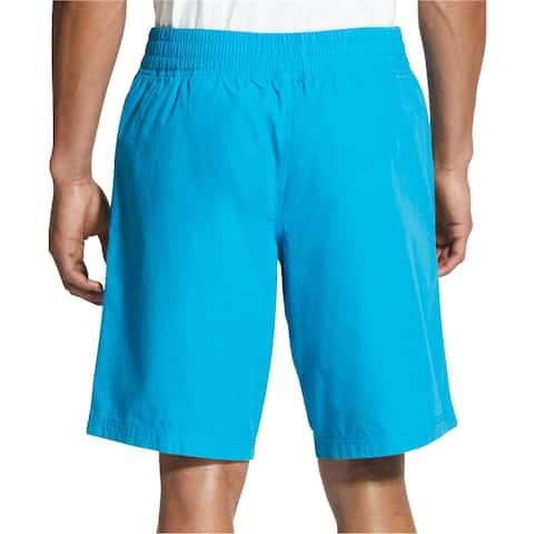 DKNY Mens Logo Print Athletic Walking Shorts, blue, Small