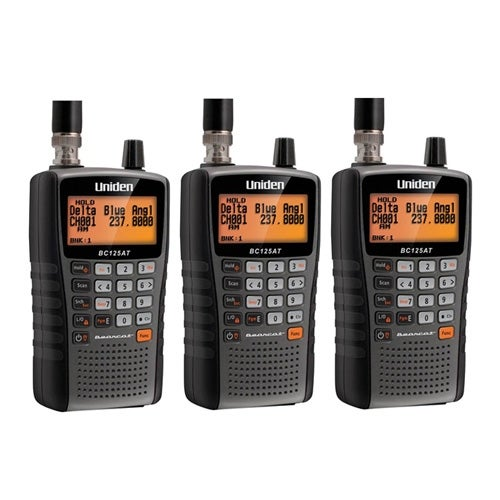 Uniden Bearcat BC125AT Handheld Scanner(3-Pack) with Backlit LCD Display