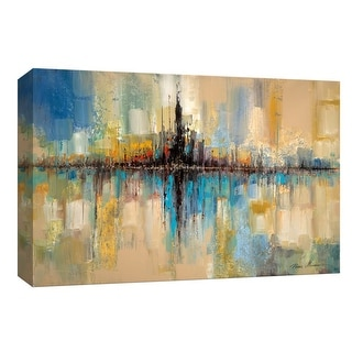 "PTM Images 9-148106  PTM Canvas Collection 8"" x 10"" - ""City Lights"" Giclee Abstract Art Print on Canvas"