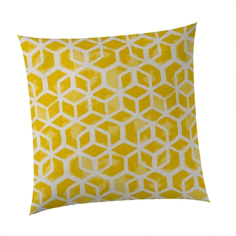 Cubed Square Outdoor Throw Pillow 18.5 x 18.5""
