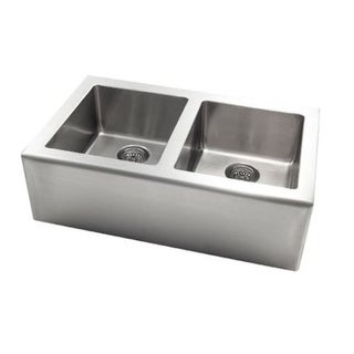 Jacuzzi AS-AP20XXUSUM Astracast? Apron Front Stainless Steel Double Bowl Kitchen Sink