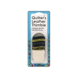 Collins Quilters Leather Thimble One Size
